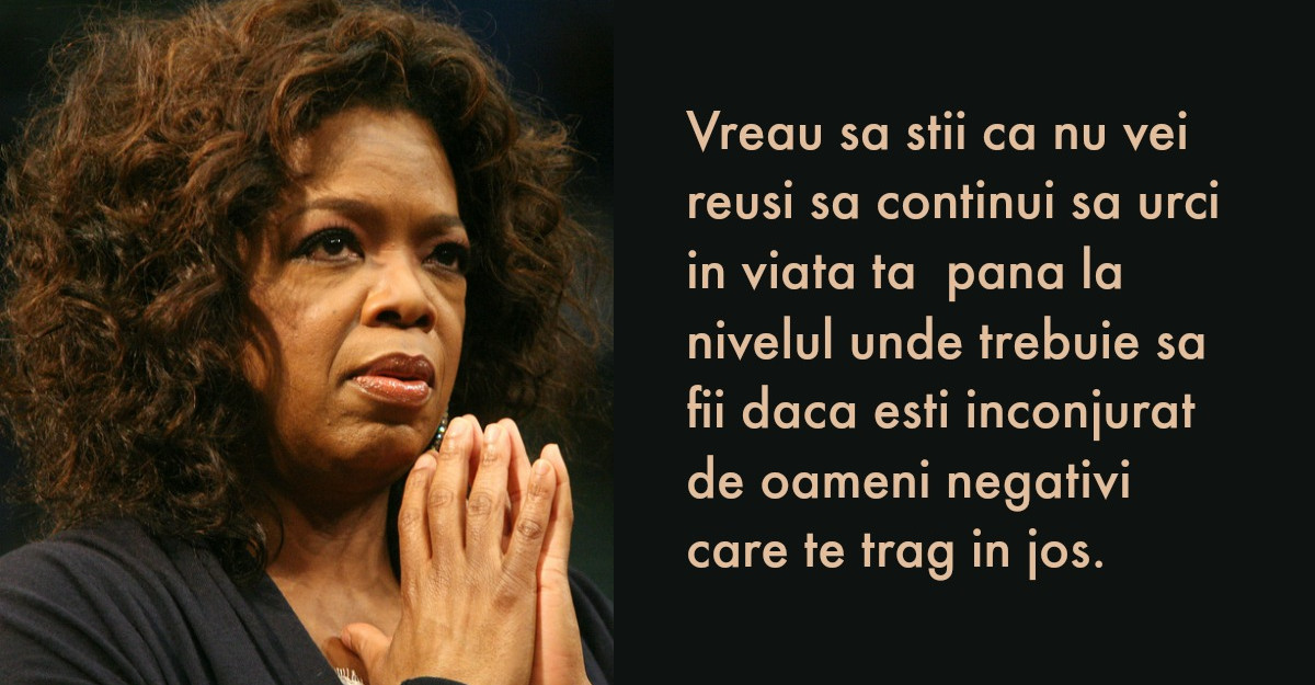 Oprah Winfrey: A trebuit sa fac o curatenie in viata mea