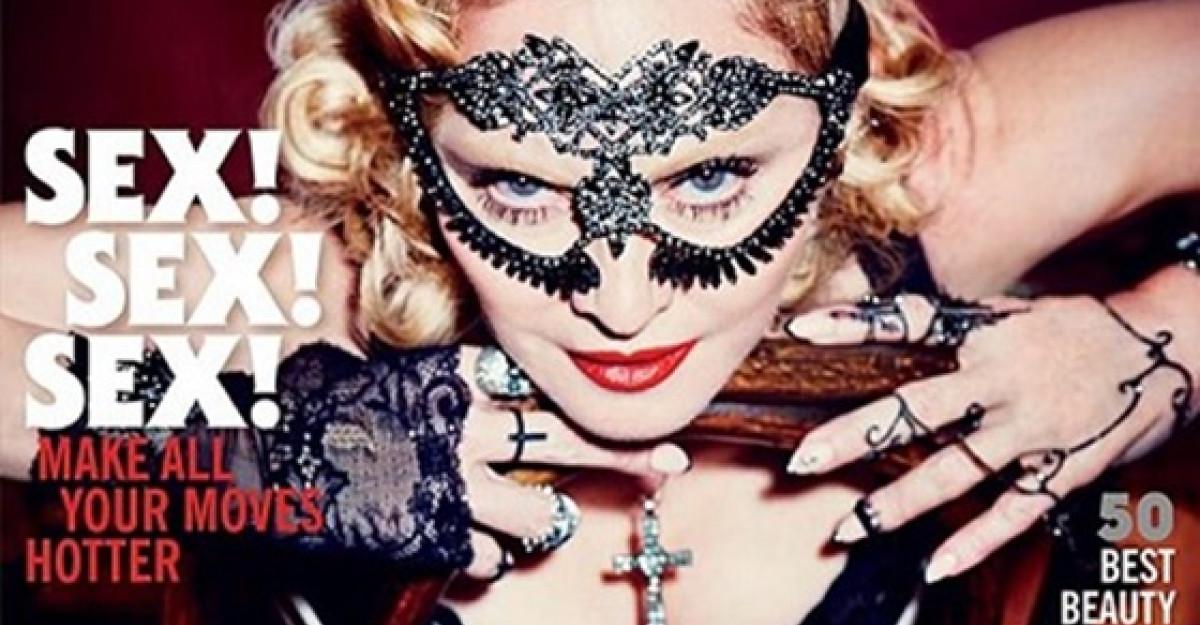 Madonna pe coperta aniversara Cosmopolitan - Make-up by Intraceuticals!