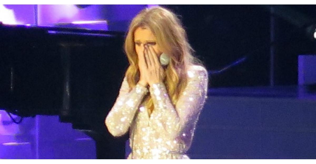 Celine Dion nu si-a mai putut stapani lacrimile in timpul concertului sustinut in Vegas