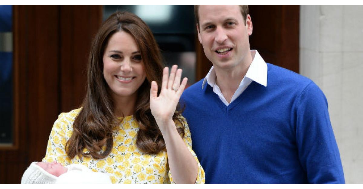 Foto: Primele imagini cu fiica Printului William si a lui Kate Middleton