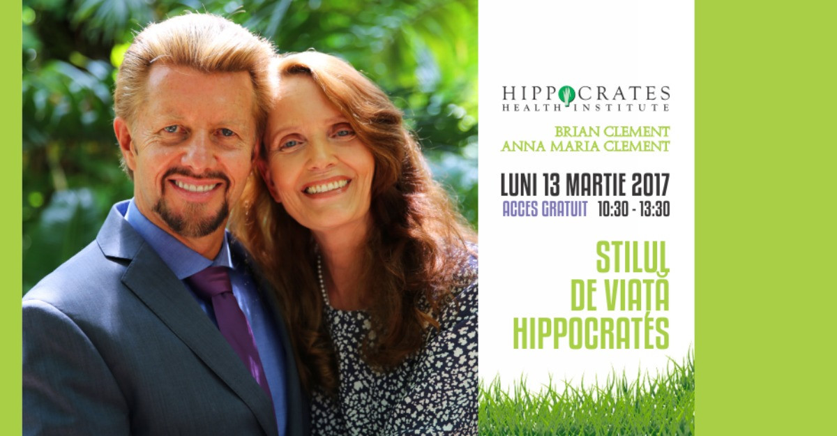 Brian si Anna-Maria Clement din nou la Bucuresti, in cadrul conferintei 'Stil de viata Hippocrates'