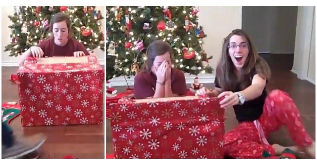 Video: A primit acest cadou de Craciun. Cand a deschis cutia, a izbucnit in lacrimi
