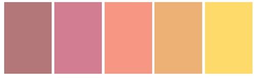 Alege imaginea careia ii corespunde paleta de culori!