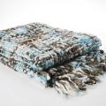 Pleduri: Patura BLANKET BIG MESH BLUE 170X130