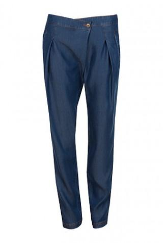 Pantaloni denim din bumbac model 2598