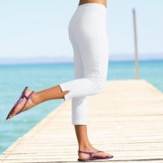 Pantaloni 3/4 efect abdomen plat