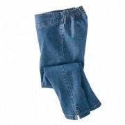 Pantaloni 7/8 efect abdomen plat denim