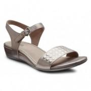 Sandale clasice confortabile ECCO Touch 15 (argintii)
