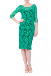 Rochie verde din dantela model DonaKyrosRS1084
