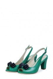 Sandale verzi din piele naturala S84F