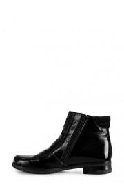 Ghete negre din piele naturala cu talpa joasa model 962