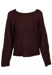 Pulover VERO MODA Tela Dark Red