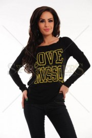 Bluza MissQ In Love Black