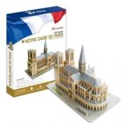Cubicfun Puzzle 3D Catedrala Notre Dame din Paris, 74 piese