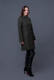 Palton Salla kaki din lana PLT24-K