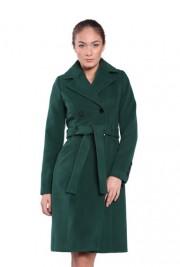 Palton verde din lana BRN80116