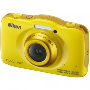Aparat foto compact Nikon COOLPIX S32, CMOS 13.2MP, Zoom optic 3x, Ecran LCD 2.7 inch, Filmare Full HD, Galben