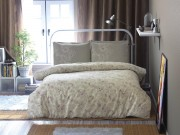 Lenjerie de pat din satin Clasy Ahsen v1 crem 2 persoane