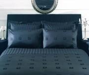 Lenjerie de pat de lux satin Issimo Le Port negru 2 persoane