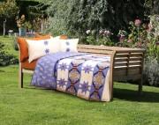 Lenjerie de pat de lux din bambus si bumbac imprimat digital Cottonissima Bihor v2 2 persoane