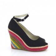 Sandale dama negre piele eco