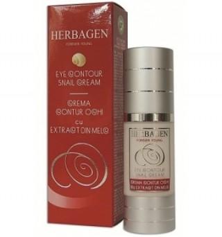 Crema contur ochi cu extract de melc 30ml Herbagen