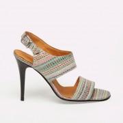 Sandale dama din piele cu toc Emeline