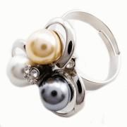 Inel buchet de perle