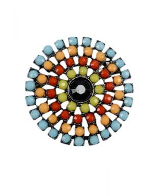 Brosa cu cristale colorate
