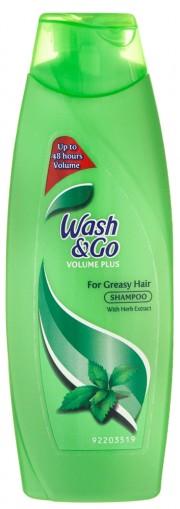 Sampon pentru par gras cu extract de plante 400ml Wash&Go Volume Plus