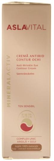 Crema antirid contur ochi pentru ten sensibil 15ml Aslavital