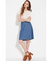 Imbracaminte Femei Forever21 Contemporary Buttoned Denim Skirt Medium denim