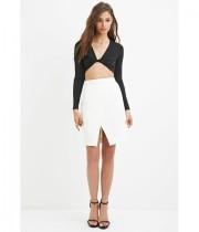 Imbracaminte Femei Forever21 Origami Skirt Ivory