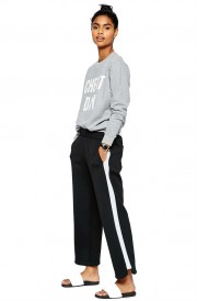 Pantaloni alb negru
