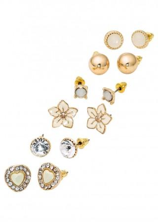Set de cercei cu surub aurii