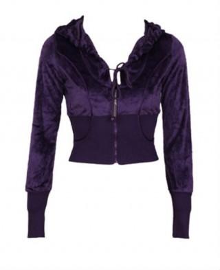 Hanorac scurt violet