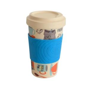 Cana de cafea din fibra de bambus