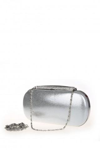Geanta tip clutch argintie