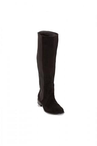 Cizme pana la genunchi prevazute cu elastic lateral