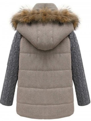 Geaca de iarna cu maneci lungi tricotate