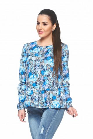 Bluza larguta cu imprimeu floral