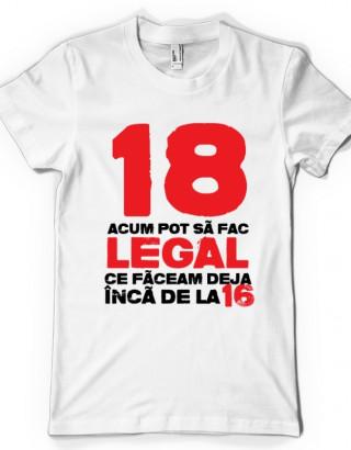 Tricou personalizat 18 Ani