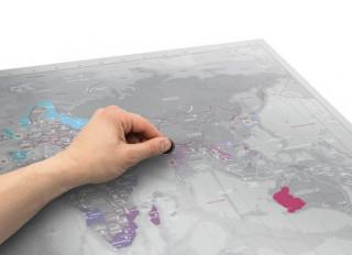 Harta razuibila pentru pasionati de calatorii