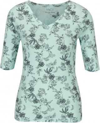 Tricou verde mentol cu imprimeu floral stil shabby chic