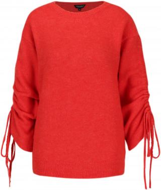 Pulover pufos rosu pentru femei