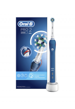 Periuta de dinti electrica Oral B PRO 2 2000 Cross Action, reincarcabila