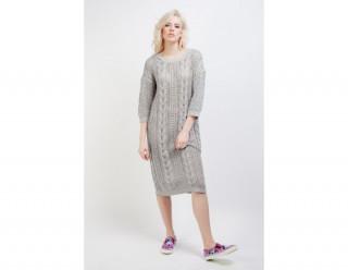 Rochie tip pulover tricotata gri Vila