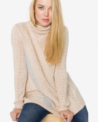 Pulover tricotat gros lung pe gat Desigual