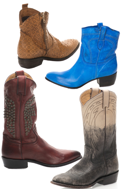 Se poarta cizmele si botine stil cowboy