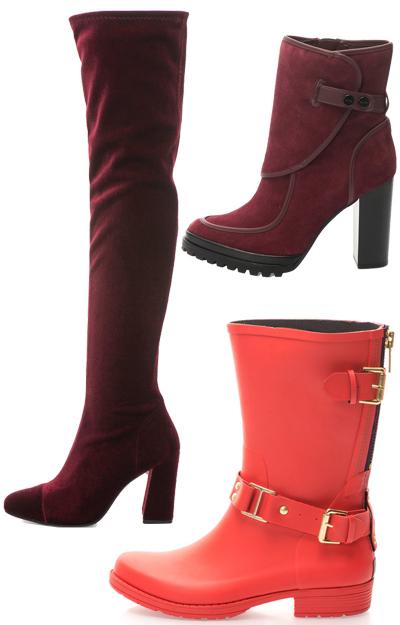 Cizmele si botinele rosii sunt must-have!